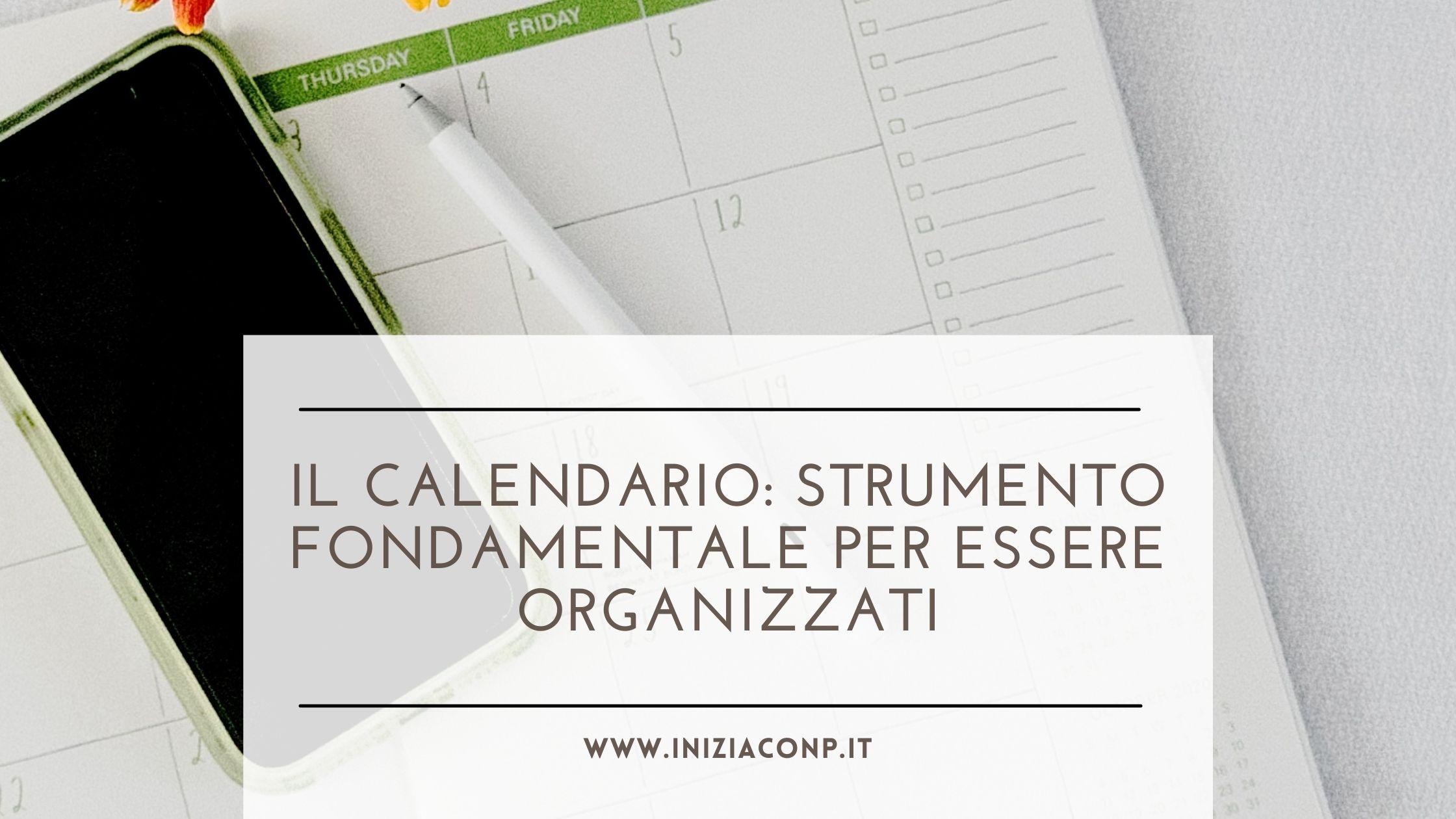 calendario per essere organizzati